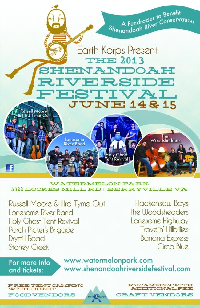 Press Release For 2013 Shenandoah Riverside Festival